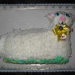 Large Lamb Cake - Coconut