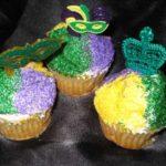 Mardi Graz Cupcakes