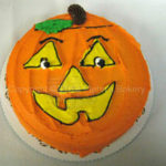 Pumpkin Face Cake
