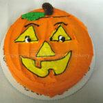 Pumpkin Face Cake