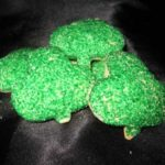 Butter Shamrock cookies