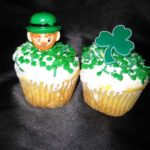Cupcakes with shamrock confetti