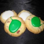Thumbprints cookies - iced seasonal green and white