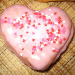 Heart Shaped Donuts - icings vary