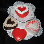 Fluted Heart Cakes