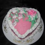 Double Layer Heart Shaped Cake
