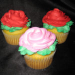 Large Rose Cupcakes