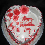 Large Heart Cake - icing varies