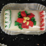 Poinsettia Petit Four